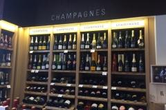 La parete di champagne